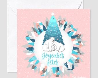 Happy holidays card - Polar bear