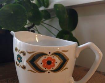 Retro Milk jug by Springfield Fine Earthenware