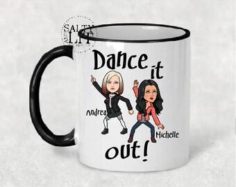 Greys anatomy mug,Dance it out bitmoji mug,You are my person bitmoji mug,greys anatomy gifts,Grey's Anatomy quote mug,custom bitmoji mug