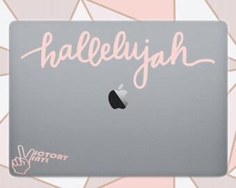 HALLELUJAH vinyl decal   Faith Decal   Christian Decal   Inspirational Decal   Faith Sticker for macbook, iphone, yeti, laptop or car decal