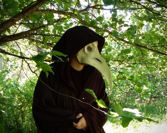 Plague Doctor Mask - Plague Mask, Theater Mask, Costume Mask, Cosplay Mask, Steampunk Mask, Full Face Mask, Scary Mask, Paper Mache Mask