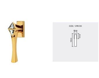 Cometa Modern Brass Window Handles with Swarovski Crystal