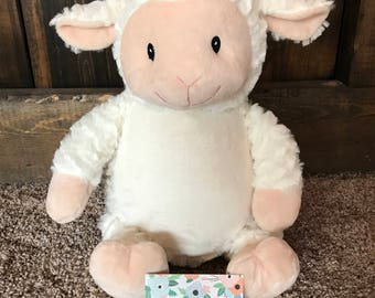 Lamb - Personalized Embroidered Cubbies, Stuffed Animals, Embroidery, Custom