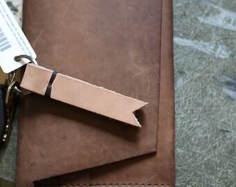 The Herringbone - Leather Keychain