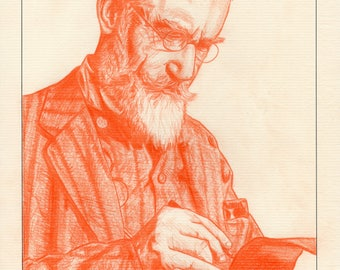 George Bernard Shaw Signed & Numbered Limited Edition Mounted Pencil Drawing Irish Art Prints (Edition size of 50)