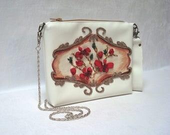 Painting Ribon Embroidered Bag