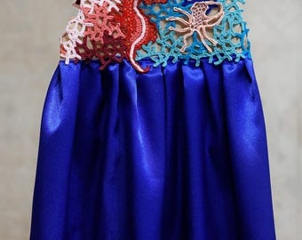 Princess Dress for the girl Irish lace mysterious underwater world