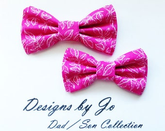 Bow Tie, Dad and Son Bow Ties, Pink Bow Tie, Father Son Bow Ties, Mens Bow Tie, Groomsmen Bow Tie, Ring Bearer Bow Tie, Boys Bow Tie  DS694