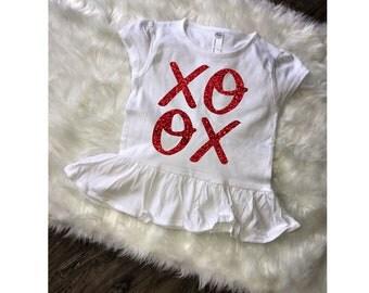 Toddler XOXO Valentines Tee, Toddler Tee, Valentines Shirt, XOXO Shirt