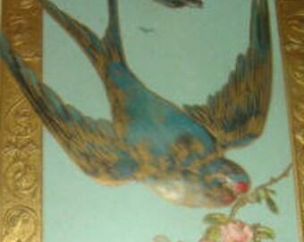 Pretty Vintage Postcard (Swallow)