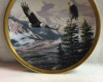 Lenox Eagle Conservation Plate Collection - 'Eagles on Mount McKinley' (#142)