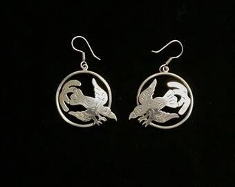 Sterling Silver Bird Earrings