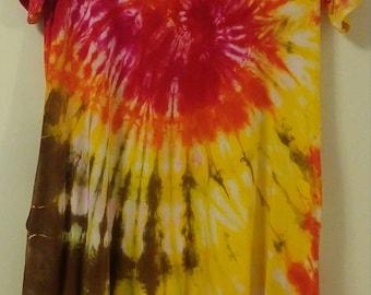 1XL Tie Dye Pocket Dress