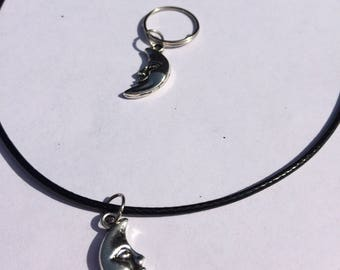 Moon Matching Bridle Charm & Necklace