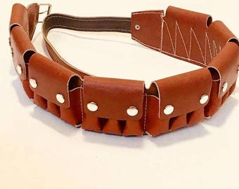 Leather Cartridge Belt / 12 caliber cartridge