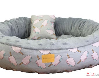 Reversible bed for dogs