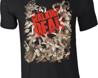 The Walking Dead Zombie Hands Reaching T Shirt Halloween Gift Negan Lucille Mens Tee Top