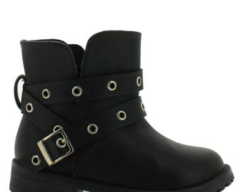 Tropicana ankle boot with rustic metal grommet inserts make this boot very fashionable to wear.