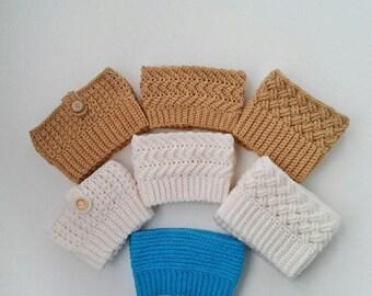 Boot Topper, Boot Cuffs, Boot Socks, Leg Warmers, Crochet Women's Boot Cuffs, Handmade Boot Cuffs, White boot topper, In 7 options