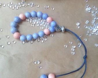 Blue and Peach Greek Komboloi - Worry Beads