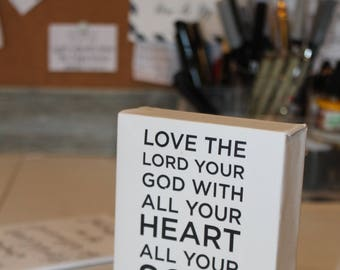 Love the Lord Canvas