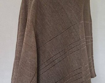 Dark gray poncho, linen poncho, summer poncho, knit poncho, knit cape, linen cape, gray cape, linen shawl, gray shawl, linen shawl