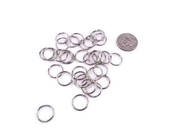 """1/2"""" Unwelded O ring Connector Jump Ring Nickel Plated - Bird Toy Part Craft Part Hardware"""