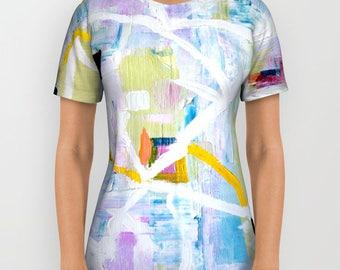 Art Tshirt Women, Abstract Tshirt - FREE shipping - Artistic Tshirt, abstract art clothing