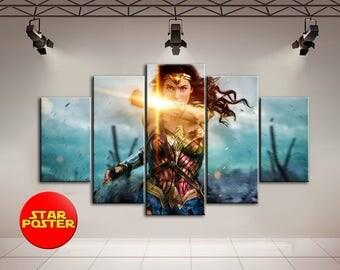 Wonder Woman, Wonder Woman canvas, DC canvas, Wonder Woman art, DC comics wall art, Wonder Woman print, DC comics art, Wonder, Woman