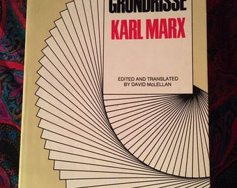 The Grundrisse - by Karl Marx - 1972 Harper Torchbooks paperback