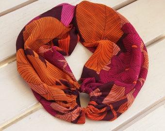 Fucshia and orange stretchy head wrap Headband turban Fabric Headband Wide headband Wide Hair Band Summer headband Hair protect
