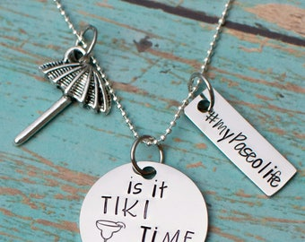 Paseo necklace - tiki time - my Paseo life - #mypaseolife
