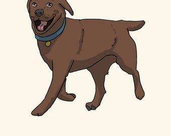 Labrador Greetings card: Happy Birthday