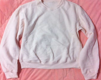 90s Vintage Light Pink Sweater, Light Pink Sweater, Pastel Pink Sweatshirt, 90s Vintage Pink Sweater