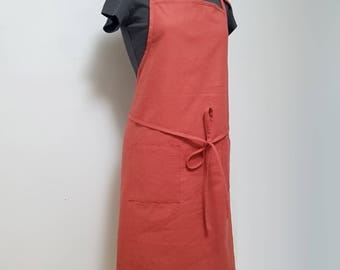 Linen Apron - Red