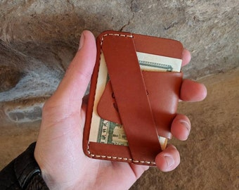 The Wraptor, EDC wallet, every day carry wallet, minimalist wallet, front pocket wallet, gift for men, leather minimalist wallet, edc