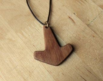 Wooden Thor's Hammer Mjölnir Pendant