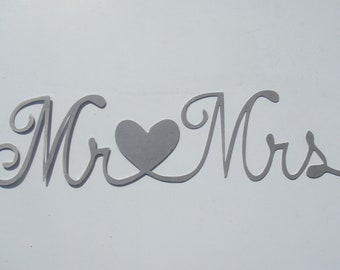 Mr and Mrs Metal Wall Hanging