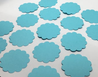 Cardstock Scalloped Circles - Many Sizes Many Colors