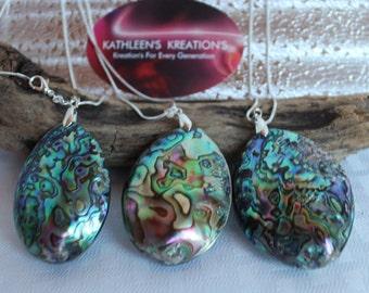 ABALONE SHELL NECKLACE, Abalone Shell Pendant, Made For Him, Her, Abalone Shell Necklace, Shell Necklace, Paula Shell,  Sea Shell Jewelry,