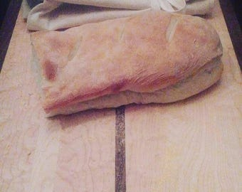 organic canvas baguette bread bag
