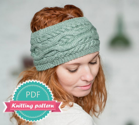 Headband pattern earwarmer pattern knit ear warmer headwrap headband pattern earwarmer pattern knit ear warmer headwrap pattern pdf knit pattern easy knit knitting tutorial cable knit headband from dt1010fo