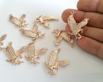 Gold plated eagle pendant Etsy