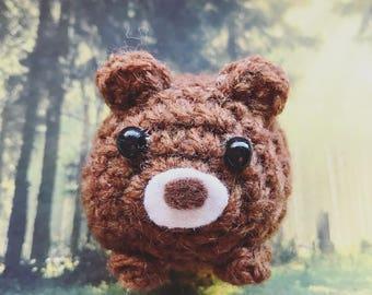 Little Bear Amigurumi, crocheted animal, keychain, lucky charm