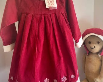 Vintage Hanna Andersson Snowflake Dress