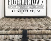 "FIGHTERTOWN AIRCRAFT SIGN | 13.5"" x 24"""