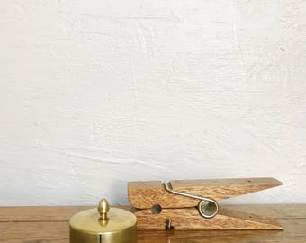 Vintage brass stamp dispenser,stamp holder, stamp box, post office supplies