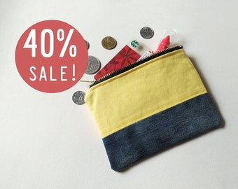 SALE 40%! Yellow Denim Coin Purse