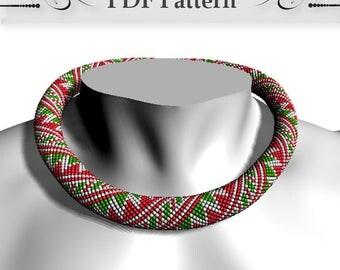 Bead crochet rope pattern, Bead Crochet Necklace Pattern, pattern bead crochet necklace, Bead Crochet Tutorial Bracelet Pattern christmas
