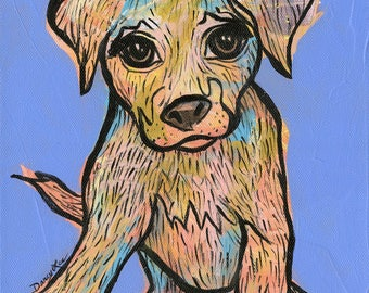 Puppy art, fine art print, puppy print, pup art, child art, baby gift, baby art, nursery art, puppy art